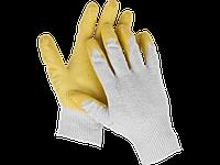 Перчатки трикотажные, одинарный облив ладони (латекс), размер S-M, серия MASTER, STAYER