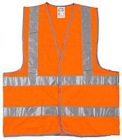 Жилет флуоресцентный, оранжевый, размер L-XL (50-52), серия MASTER, STAYER