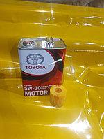 Замена масла в двигателе (масло + фильтр) Toyota Allion оригинальное моторное масло тойота 5W30, фото 1
