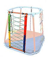 Модуль веревочный лаз оранжевый-радуга