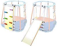 Модуль скалодром - горка белый -радуга