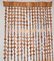 Занавески для дверного проема «Круглые кольца» (Светло-коричневый), фото 3