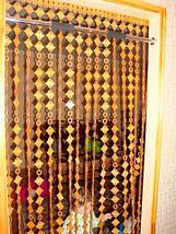 Занавески для дверного проема «Круглые кольца» (Светло-коричневый), фото 2