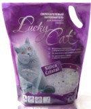 Lucky Cat 3,8л (1,7кг) без аромата Лаки Кэт Силикагелевый наполнитель для кошачьего туалета, фото 1