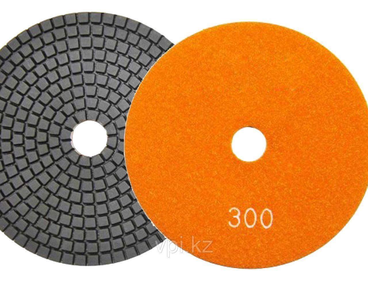 Круг алмазный полировальный, гибкий P300, 100мм TOTAL TOOLS