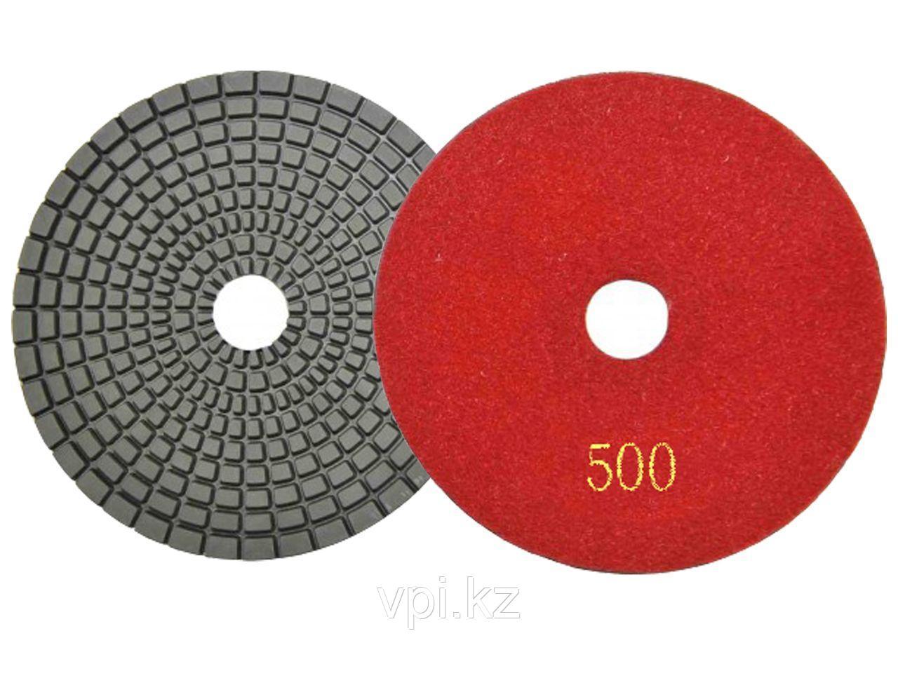 Круг алмазный полировальный, гибкий P500, 100мм TOTAL TOOLS