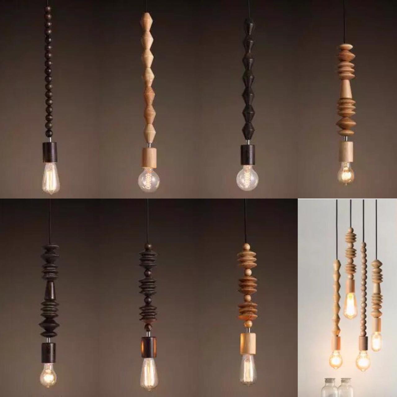 Подвесной светильник (светильник из дерева)