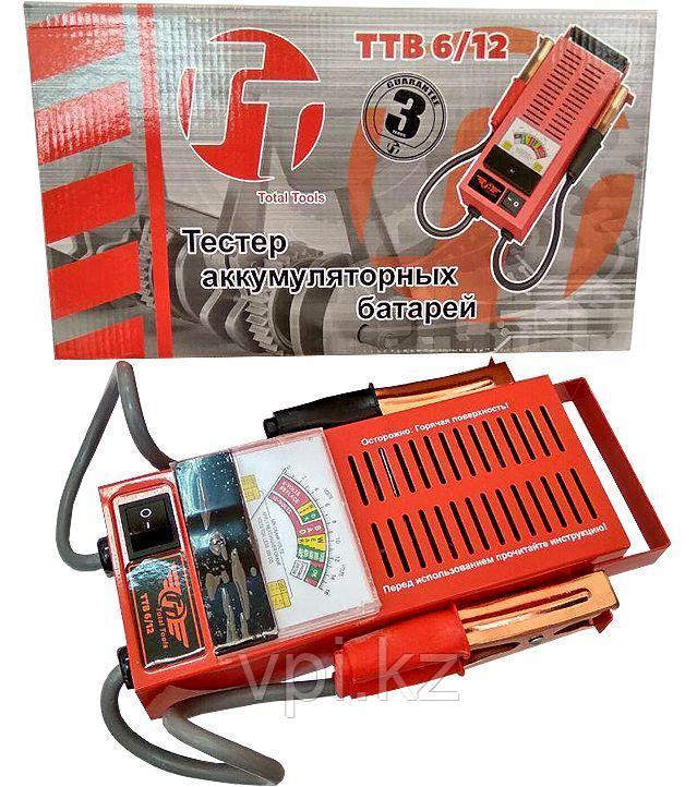 Тестер аккумуляторных батарей   6/12TOTAL TOOLS