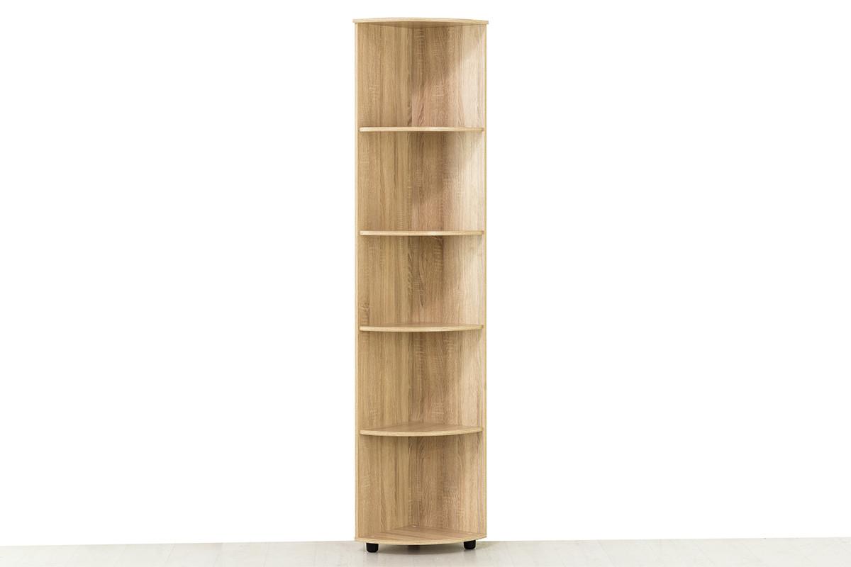 Шкаф стеллаж угловой приставной модульной системы Визит 1, Сосна Джексон, СВ Мебель (Россия)