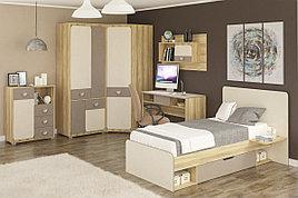 Шкаф для одежды угловой 1Д  как часть комплекта Лами, Капучино, MEBEL SERVICE (Украина)
