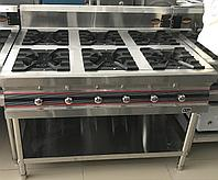 Газовая плита производственная 6 конфорочная, фото 1