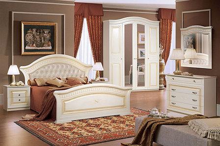 Кровать двуспальная как часть комплекта Любава 4, Жемчуг, Форест Деко Групп (Беларусь), фото 2