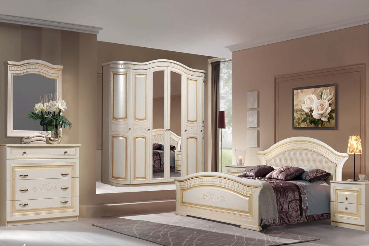 Комплект мебели для спальни Любава 6, Жемчуг, Форест Деко Групп(Беларусь)