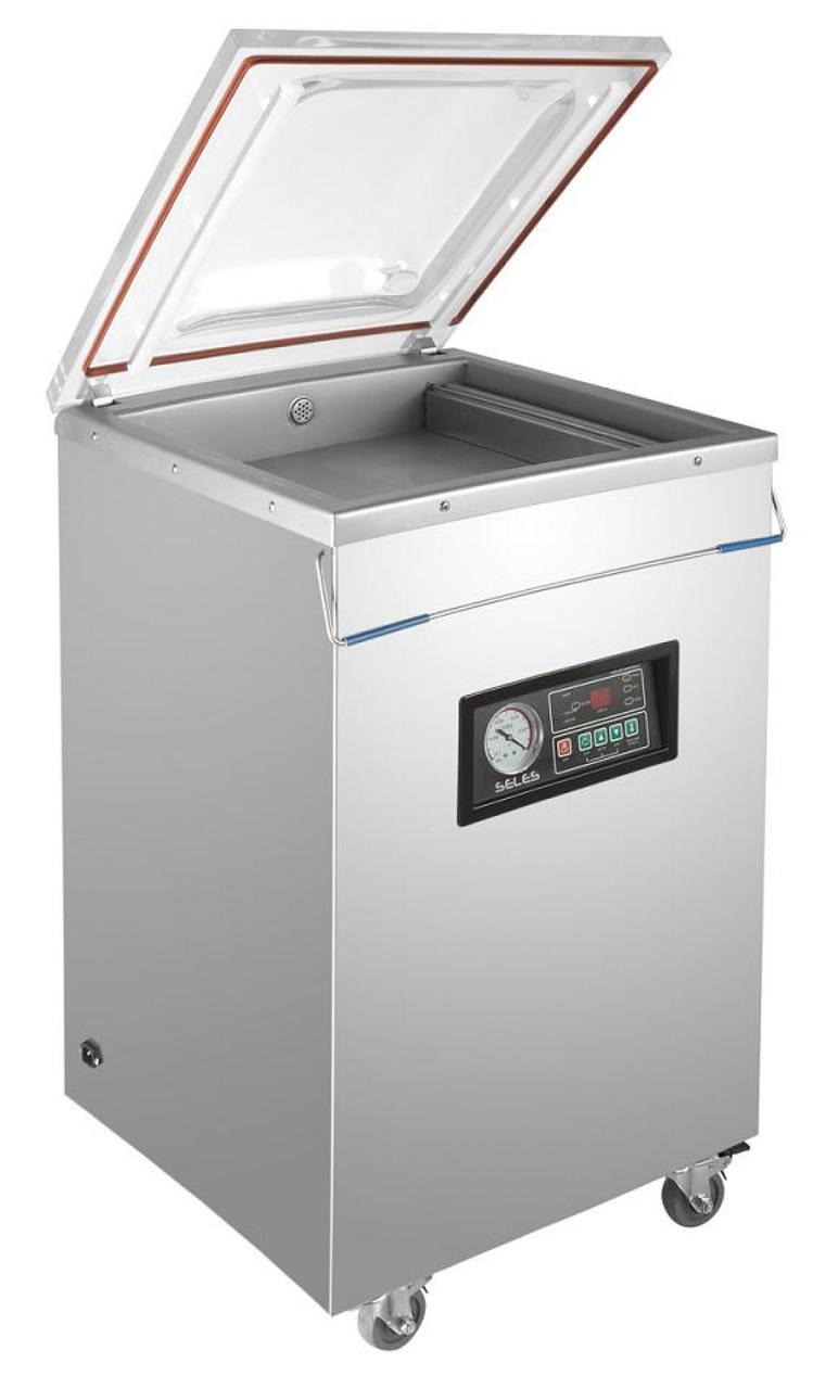 Настольная вакуум-упаковочная машина HUALIAN DZ-400/2E (нерж., газ)
