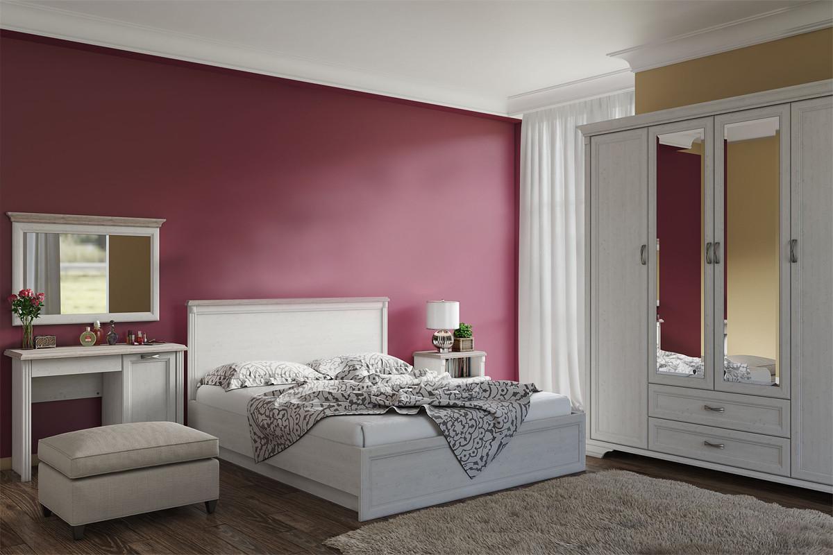 Шкаф для одежды 4Д  как часть комплекта Монако, Сосна Винтаж, Анрэкс (Беларусь)