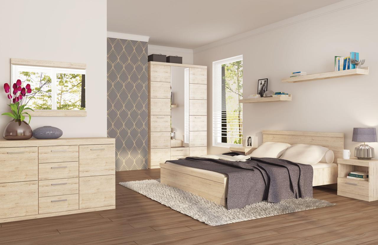 Комплект мебели для спальни Оскар, Дуб Санремо, Анрэкс(Беларусь)