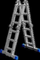 Лестница-трансформер алюминиевая с платформой 4 х 3, серия «ЭКСПЕРТ», ЗУБР