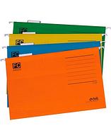Папка подвесная для картотек Deli А4+ (365*240мм) в комплекте табуляторы, синий