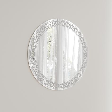 Зеркало мебельное Z-04 D800 КРУГ с пескоструйной обработкой, Мебельград, фото 2
