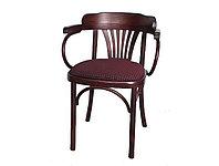 """Кресло из дерева мягкое """"Классик Люкс"""" Б 6072-2 (тон и обивка на выбор)"""