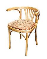 Кресло деревянное с мягким сидением Марио Люкс (Б 1656-01-2) лакированное