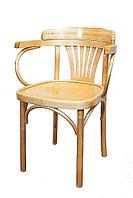 """Кресло деревянное с подлокотниками """"Классик Люкс"""" (Б 5288-01-2) лакированное"""