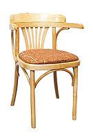 Кресло мягкое деревянное Роза Люкс (КМФ 120-01-2) лакированное