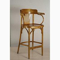 Кресло барное высокое из дерева Аполло Люкс (КМФ 305-2) краситель 311