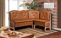 """Кухонный угловой диван с деревянными боковинами """"Ладога-3д"""""""