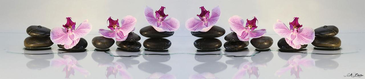Камни с орхидеями 2 скинали SP-035 - фото 1