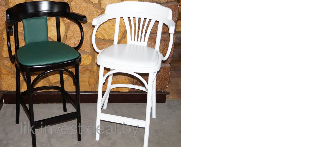 Кресло деревянное высокое с мягким сидением Apollo Lux (КМФ 305-01-2) - фото 2