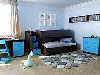 Кровать-тахта детская NEO 6 с лестницей