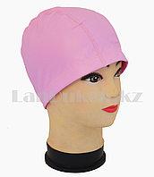 Комбинированная шапочка для плавания прорезиненная Розовый