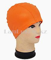 Комбинированная шапочка для плавания прорезиненная Оранжевый