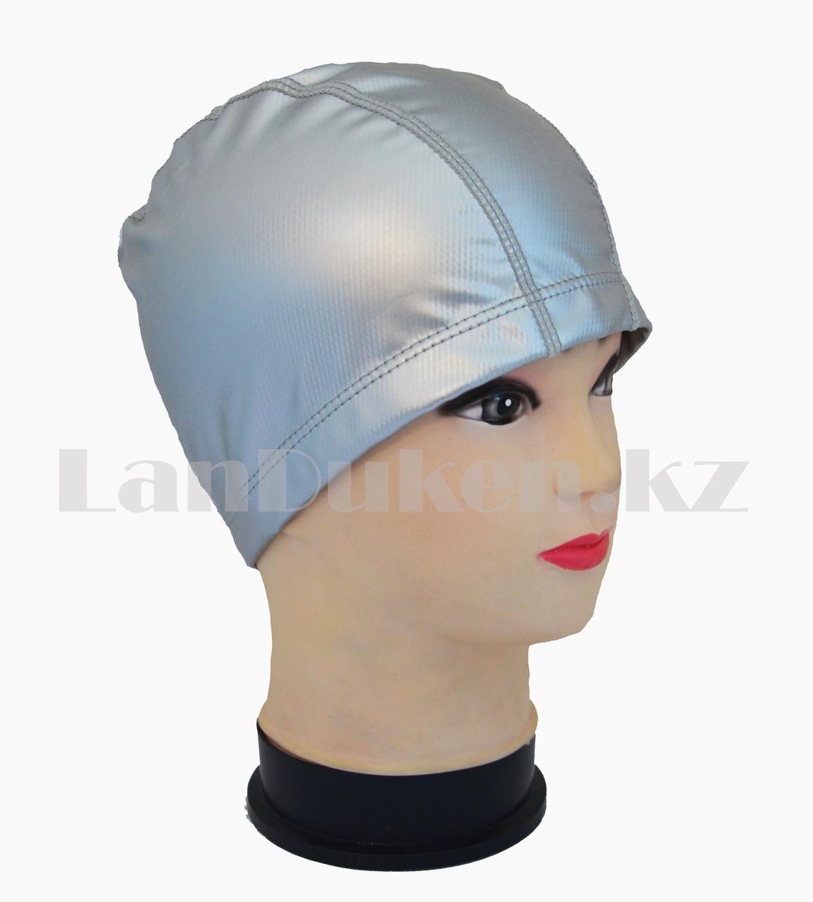 Комбинированная шапочка для плавания прорезиненная