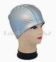 Комбинированная шапочка для плавания прорезиненная, фото 1