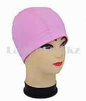 Комбинированная шапочка для плавания матовая Розовый