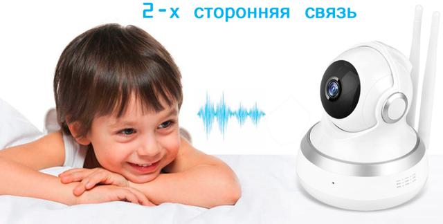 Внутренняя поворотная IP камера с микрофоном и динамиком Millenium Smart PTZ