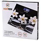 """Весы напольные """"Цветы на чёрном"""" Hottek 30*30 см, фото 2"""