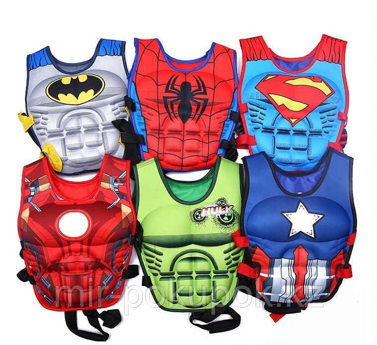 """Пляжный жилет для мальчика для купания, плаванья """"Супермен, Бетмен, Человек Паук, Капитан Америка"""""""