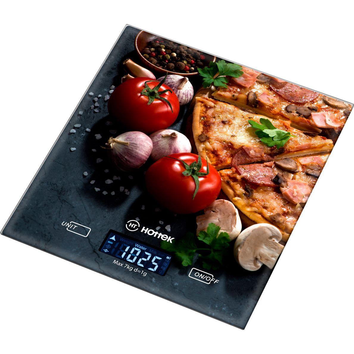 """Весы кухонные """"Пицца"""" 18*20 см макс.вес 7 кг"""