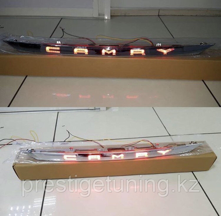 Задняя LED хромированная планка на Camry 70 2018-