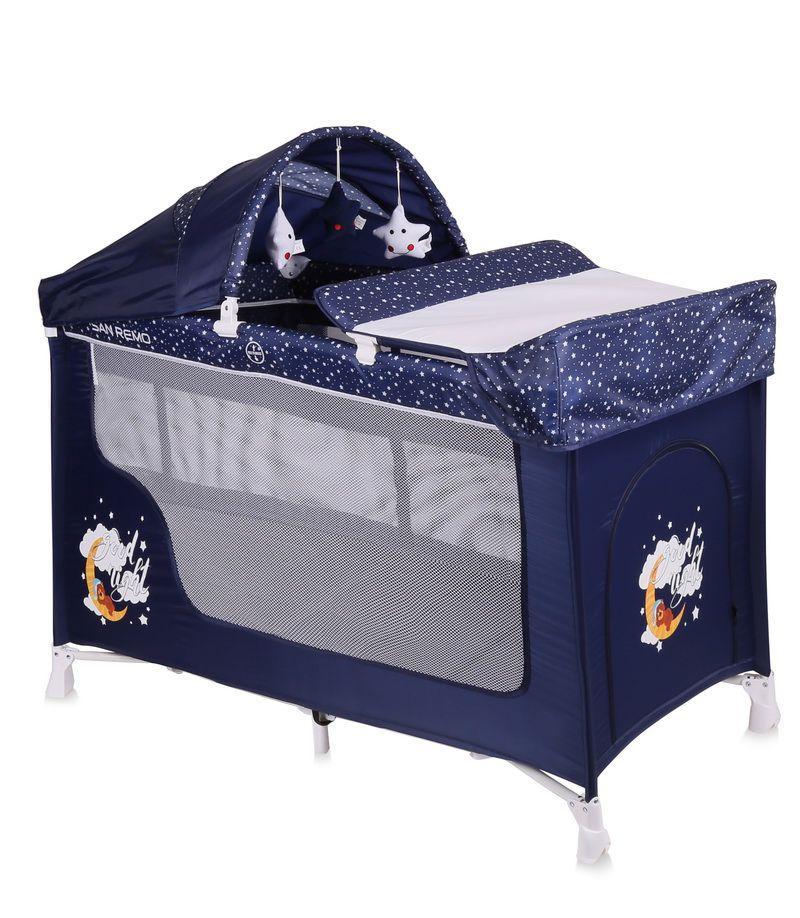 Кровать-манеж Lorelli San Remo 2 Plus Rocker цвета в ассортименте