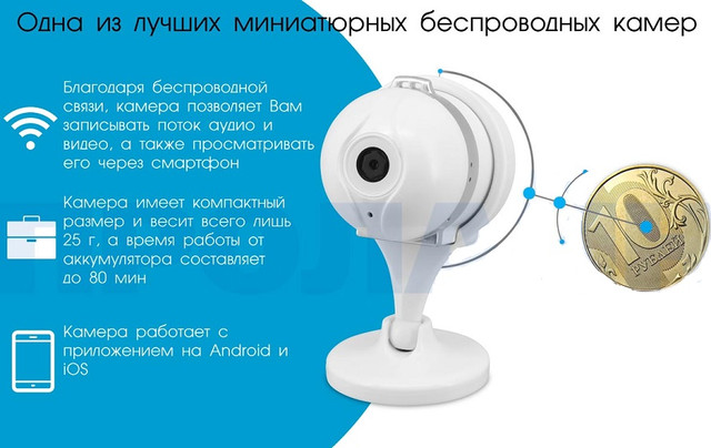 Внутренняя IP камера Proline IP-HC100AS AiSee с поддержкой Wi-Fi