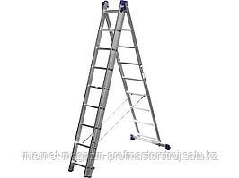 Лестница трехсекционная 9 ступеней, 588 см, СИБИН