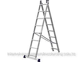 Лестница двухсекционная 8 ступеней, 364 см, СИБИН