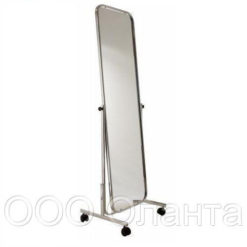 Зеркало напольное на колесах (510х1600 мм) хром арт. 294
