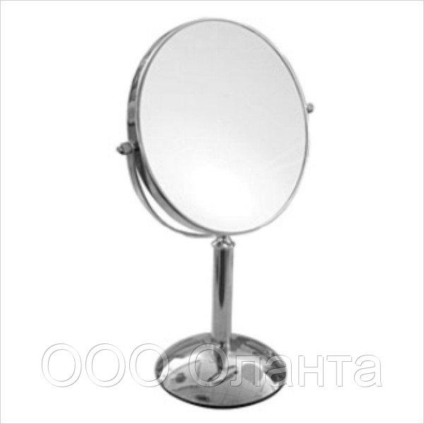 Зеркало настольное двухстороннее (D=190 мм) хром арт. М203С