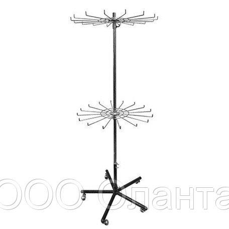 Стойка двухъярусная с крючками арт. ST019