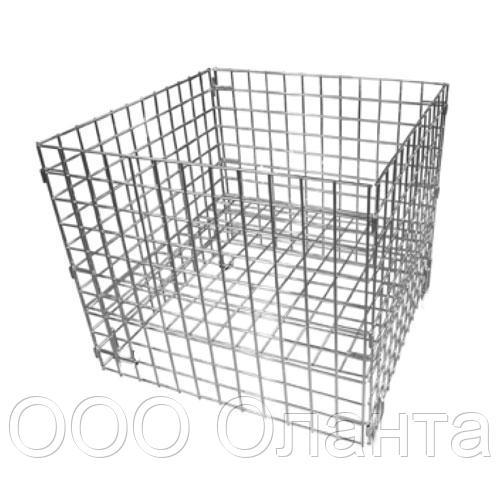 Корзина для распродаж напольная c регулируемым дном (750х750х800 мм) цинк арт. Кр1